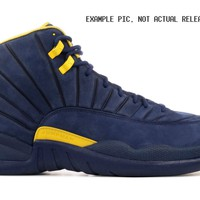 BC SPBEST Nike Air Jordan Retro 12 RTR Michigan College Navy Amarillo BQ3180-407