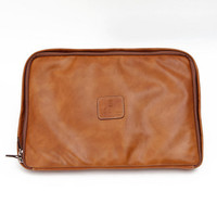 Calabrese : 15 Laptop Case (Tan Leather) from Oi Polloi