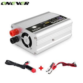 Onever 500W In-car USB Inverter Auto Converter Power Supply Modified Sine Wave DC 12V to AC 220V Power for Notebook Laptop DVD