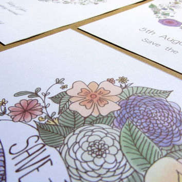 Save the Date | Wedding Stationery | Beautiful floral bouquet country wedding flowers nature