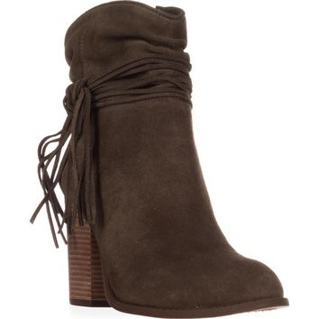 Jessica Simpson Sesley Wrapped Slouch Ankle Booties, Olive Taupe, 9.5 US