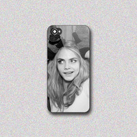Cara Delevingne - Print on Hard Cover for iPhone 4/4s, iPhone 5/5s, iPhone 5c - Choose the option in right side