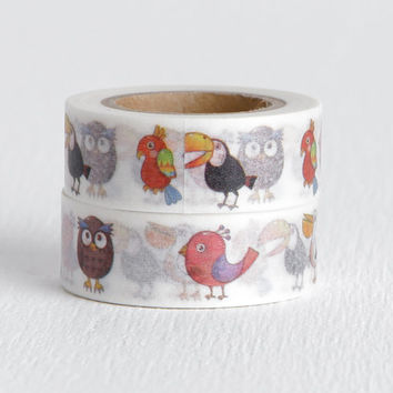 Bird Washi Tape, Toucan Owl Parrot Sparrow and Pelican on Decorative Tape 15mm x 10m