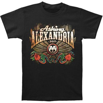 Asking Alexandria Men's  Winged Snake T-shirt Black Rockabilia