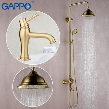 Gold Bathtub Faucets waterfall bath tub shower handheld spray