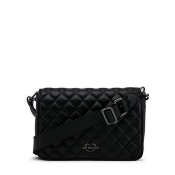 Love Moschino Black Synthetic Leather Crossbody Bag