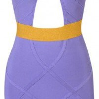 """Bianca"" Purple Cut Out Bodycon Dress - Love Struck"