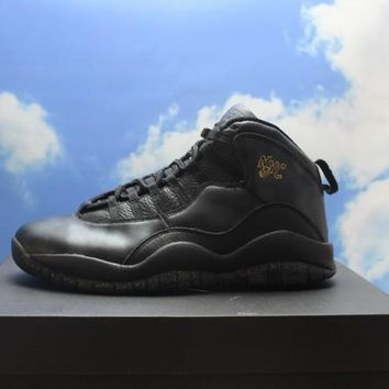 "[Free Shipping]Air Jordan 10 Retro ""NYC City Pack"" Men Athletic Sneakers [310805 012] Basketball Sneaker"