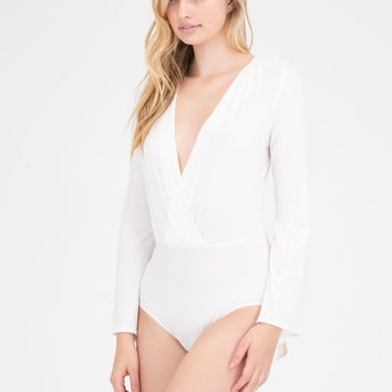 Ring The Bell Sleeve Plunging Bodysuit GoJane.com