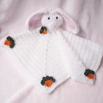 Crocheted Snuggle Easter Bunny Blanket Baby Girl