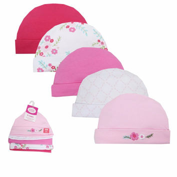 Retail 5 PCS/LOT Winter Autumn Crochet Baby Hat Car Pattern Embroidered Girl Boy Cap Unisex Toddlers Caps Baby Accessories 0-6 M