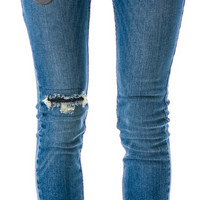 JET by John Eshaya Skinny Army Patch Jeans Denim