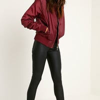 Bombshell Bomber Jacket Berry Wine