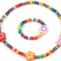 Girls Necklace & Bracelet Set - 4 Styles!