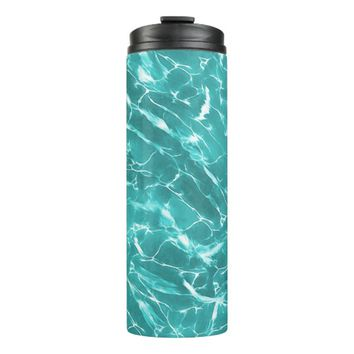 Abstract Water Design Thermal Tumbler