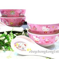 Choice Authentic Sanrio Cereal Rice Salad Bowl Spoon Melamine Tableware Set Kids