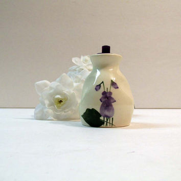 Vintage Delavelle's Devon Violets Devon ware England Toilet Water Perfume Bottle Mini London