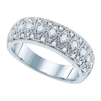 Diamond Fashion Band in 14k White Gold 0.64 ctw