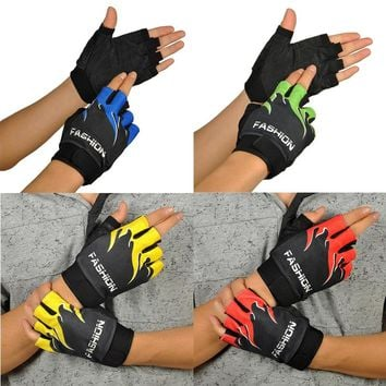 Cycling Protect Footbal Sports Safety Sports Bicycle Cycling Biking Hiking Gel Half Finger Fingerless Gloves
