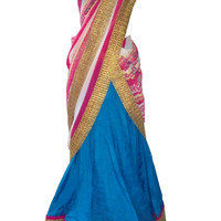 Shefali's Studio - The Blue Lagoon Ghagra & Printed Dupatta