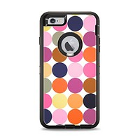 The Solid Pink & Blue Colored Polka Dots V2 Apple iPhone 6 Plus Otterbox Defender Case Skin Set