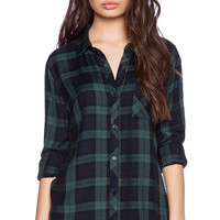 Rails Hunter Button Down in Green