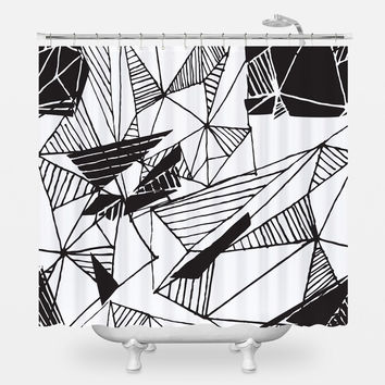 Hand Drawn Pattern Shower Curtain