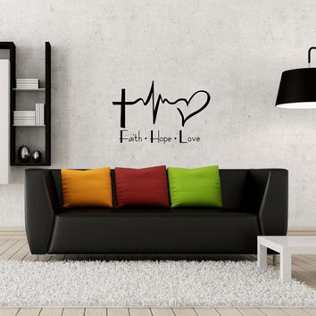 Faith Hope Love - Wall Decal Sticker