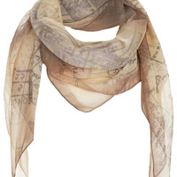 Mottled Chiffon Map Scarf - Scarves - Bags & Accessories - Topshop USA