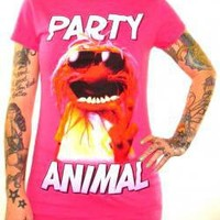 ROCKWORLDEAST - Muppets, Girls T-Shirt, Party Animal