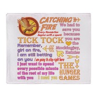 Catching Fire Throw Blanket by thetshirtpainter