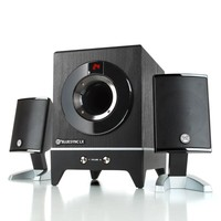 GOgroove BlueSYNC LX Bluetooth Wireless 2.1 Speaker System with Bass Enhanced Subwoofer & Remote Control - Works with Apple , Samsung , LG , Sony , Dell and More Smartphones , Tablets , Laptops , Computers , MP3 Players