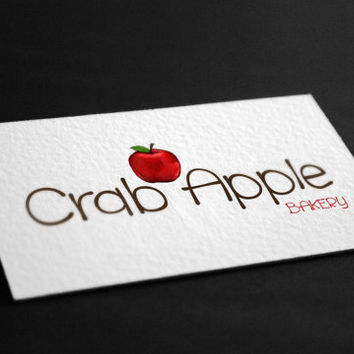 Pre-Made Apple Illustration Bakery Photography Jewelry Accessories Etsy Any Business Shop Logo