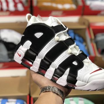 Nike Air More Uptempo black/white  Basketball shoe Size 36-45