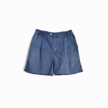 Men's Vintage Navy Blue Boat Shorts / 90s L.L. Bean Canvas Shorts - men's 33