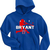 "Kris Bryant Chicago Cubs ""Air Bryant"" Hooded Sweatshirt ADULT SMALL"