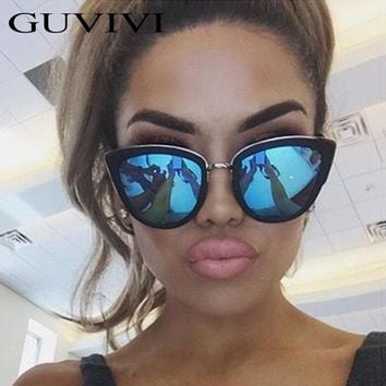 Cat Eye Sunglasses Women Brand Designer Alloy Sun glasses Glasses oculos de sol feminino Vintage Designed Sunglasses women 2017