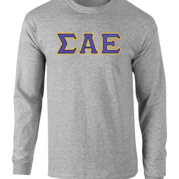 Sigma Alpha Epsilon Twill Letter Long Sleeve Tee