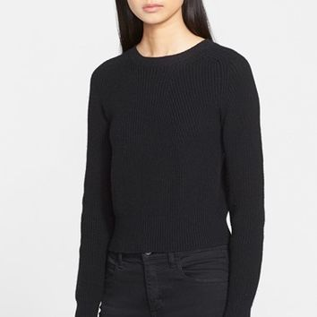 Women's Helmut Lang Cashmere & Wool Crop Sweater,