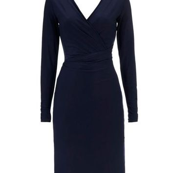 Wallis Ruched Sleeve Wrap Dress - House of Fraser