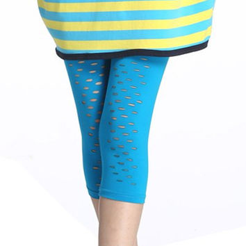 Stylish Women's Hollow Out Slimming Leggings
