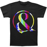 Of Mice & Men Men's  TV Static Ampersand T-shirt Black Rockabilia