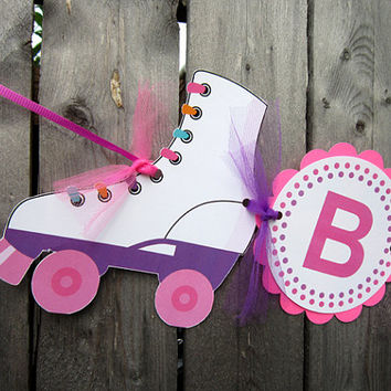 Roller Skate Birthday Banner - Skating Birthday Party - Roller Skating Party
