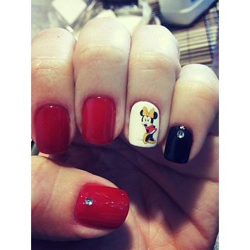 1 Sheet Art Nail Mickey Cartoon Mouse Nail Art Water Transfer Sticker