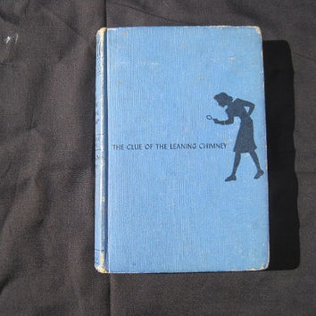 1949 Nancy Drew Clue of the Leaning Chimney by Carolyn Keene Hardcover No dj