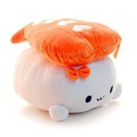 NEW Kawaii Shrimp Sushi Pillow Stuffed Fabric Food Decoration Good Gift for Every Special Day