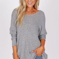 Twist Top Heather Grey