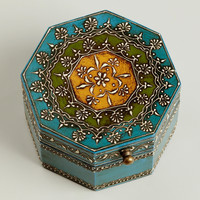Blue Octagon Gabriella Box