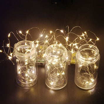 Copper Led String Lights 3M 30Led Battery operater waterproof Outdoor use decoration light fun life high quality 8 colrs LH