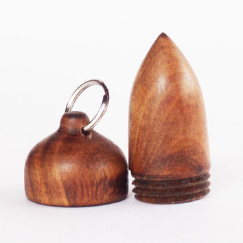 Wooden acorn box,Acorn Pendant Box,Small pill box,Charm-SCREW CAP